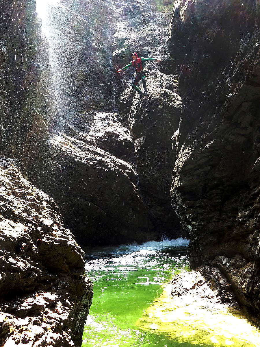 Canyoning in Oberbayern: Sylvensteinspeicher