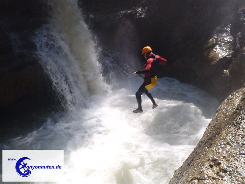 Canyoning Ostertal Sonthofen Allgaeu