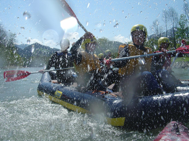 Canadier-Rafting im Allgäu