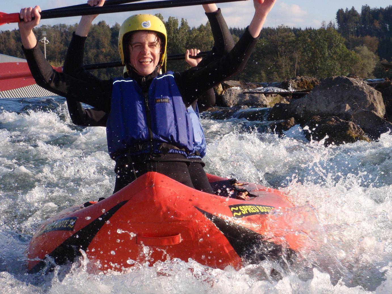 Rafting mit Canadiern im Allgäu